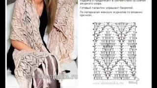 Обзор интересных палантин и шарфов на осень и их схемы