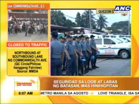 Batasan Pambansa in tighter security on day of SONA