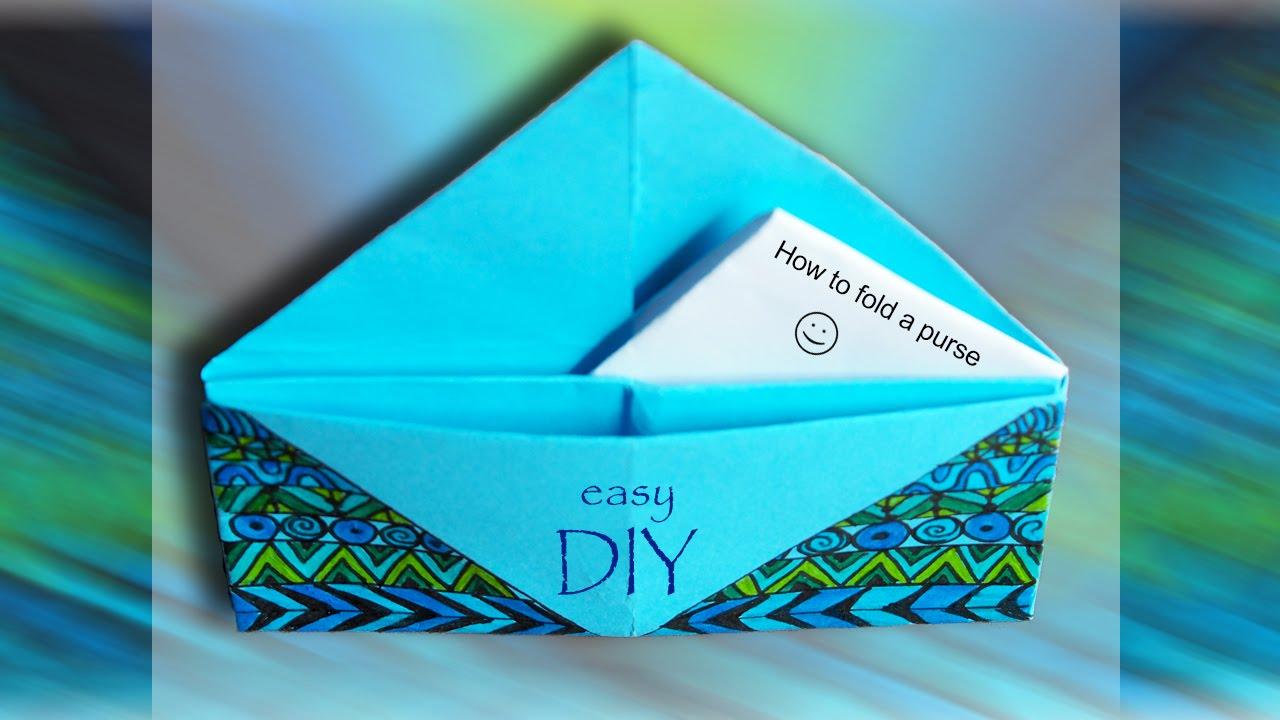 Geldbeutel falten | Origami - YouTube