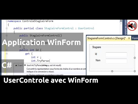 how to create user control in c#