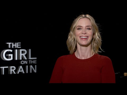 THE GIRL ON THE TRAIN interviews - Emily Blunt, Justin Theroux, Haley Bennett, Luke Evans, Ramirez