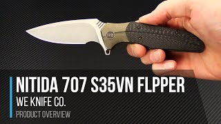 WE Knives 707 Nitida S35VN Gentleman's Tactical Flipper Overview