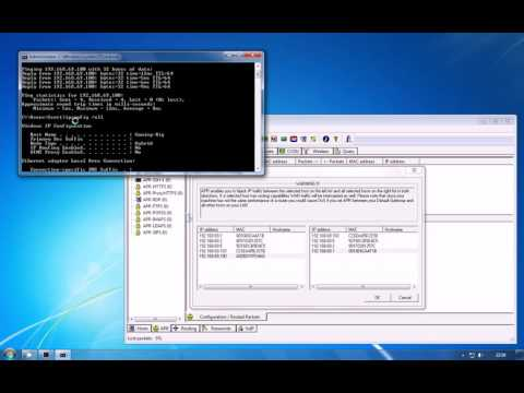 Session Hijacking With ARP Poisoning Using Cain and Abel