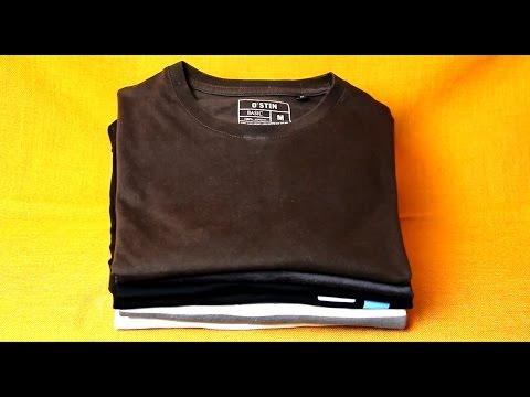 Как сложить футболки  | Как навести идеальный порядок в шкафу