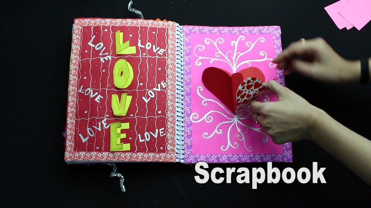 Scrapbook ideas hobbycraft - Scrapbook Idea Easy Scrapbook From Spiral Notebook Jk Craft Ideas 100