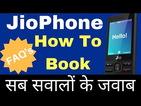 JIO 4G PHONE - HOW TO BOOK | Hotspot, WhatsApp Support? | Specifications & FAQs