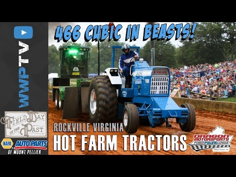HOT FARM TRACTORS pulling at FIELD DAY OF THE PAST at Rockville September 2017 DRAGON MOTORSPORTS