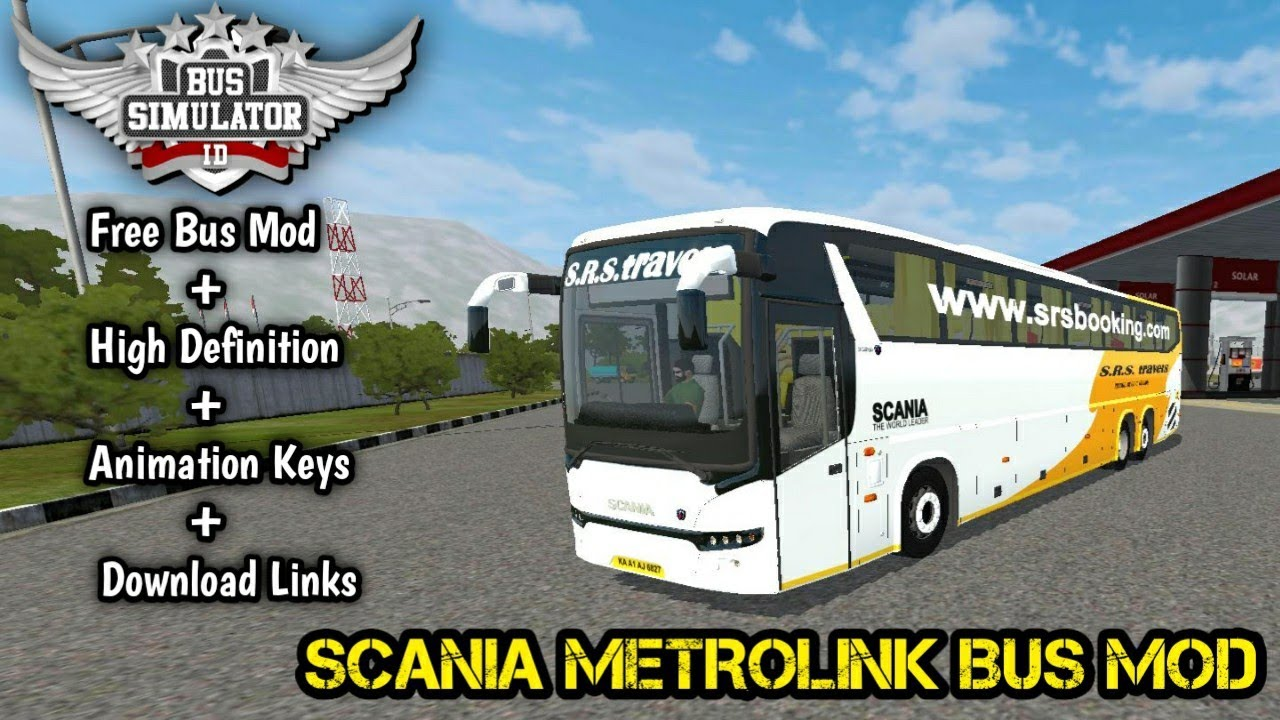 Download Real Indian Scania Metrolink 14 5m Hd Bus Mod For Bus Simulator Indonesia Bussid V3 3 3 Youtube