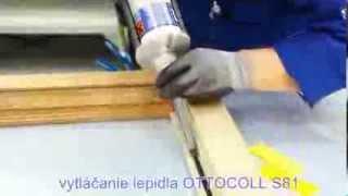 Vlepovanie skla do drevených okien na pozícii 1 a hrane zasklenia - neupravené drevo