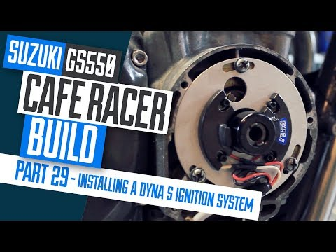 In this video we install the Dynatek Dyna S Electronic ignition system on the Suzuki GS550 Cafe Racer project. I explain the simple steps to installing the kit and ...