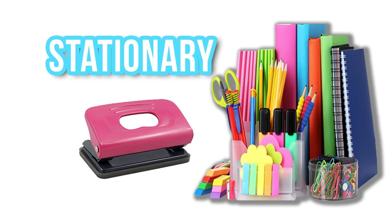 stationary item - kids vocabulary