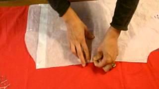 Apprenez à placer les pièces d'un patron sur le tissu et à tracer les surplus de couture grâce à Aiguillez-moi : ici, un patron de chemise d'homme n° 7767 de ...