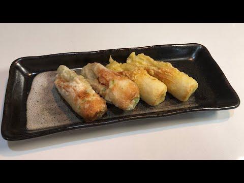 「天ぷら粉」で、ちくわの二色揚げを作ります!