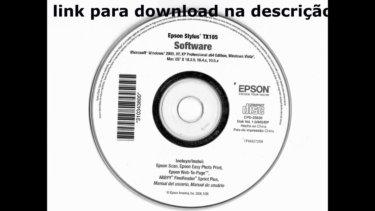 DRIVER EPSON TX105 GRATIS BAIXAR