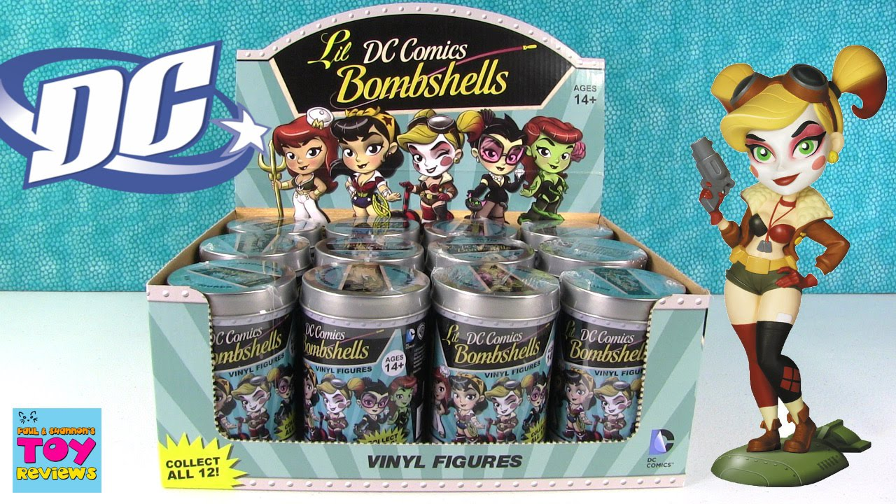 3 x DC Comics Lil bombes Series 3 Vinyl Figure Chase Collection Tin