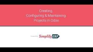 Creating, Configuring & Maintaining Projects in Odoo - German