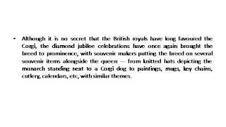Rutaksha Rawat's Written Post  Welsh Corgi  The Queen's Favorite