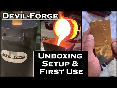 Melting COPPER At Home With A Devil-Forge: Unboxing, Setup & First Use