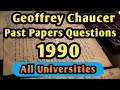 Gambar cover Chaucer's Past Papers Questions 1990 PU with Complete Solutions & Guide Line for All Universities