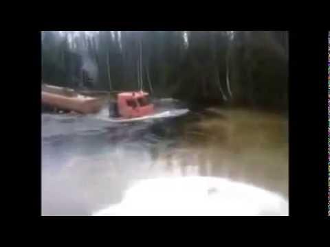 Extreme Machines, Fuel truck Kamaz runs river