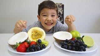 Aprender as cores em inglês com sorvete e frutas | Learn Colors with Ice Cream and Fruits for Babies