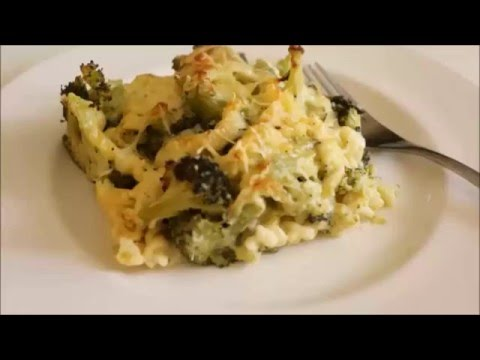 gratin-de-pâtes-et-brocoli-à-la-sauce-béchamel
