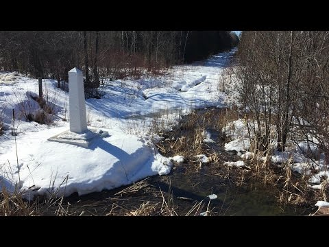 360° view of along Cdn.-U.S. border where asylum seekers are crossing illegally