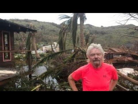 Richard Branson reveals Irma's Caribbean destruction
