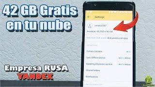 42 GB gratis por Yandex Disk - Ruso / 2017