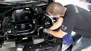 Mercedes R172 SLK 200 Chiptuning Einbau und Leistungsmessung