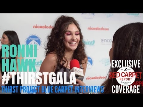 Ronni Hawk #OnMyBlock interviewed at the 9th Annual Thirst Project Gala #ThirstGala