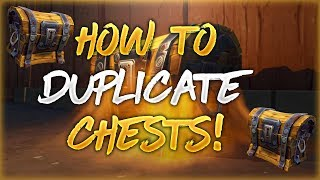 How To Duplicate Chests In Fortnite! (glitch)