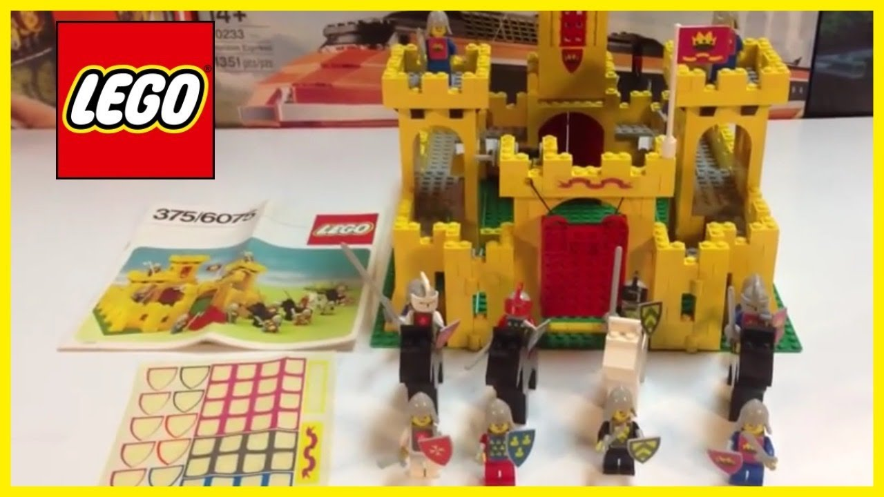 Vintage Lego 375 6075 Classic Yellow Castle First Lego Castle