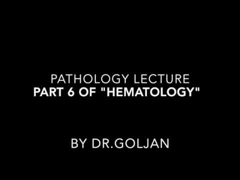 Goljan Audio Lectures Part 6 of Hematology