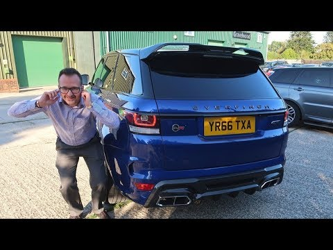 Tony Got A LOUD Range Rover SVR!