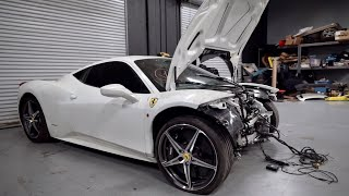 I Bought a WRECKED Ferrari 458 from auction & I'm going to Rebuild it!