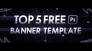 Top 5 Free Banner Template | Photoshop CC & CS6