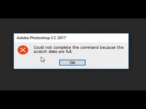 Fix! Scratch disks are full in photoshop cc2017 - YouTube