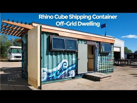 Zulu Queen: Rhino Cube Shipping Container Off-grid Tiny house
