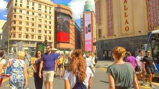 MADRID WALK along Gran Vía from Plaza de España | Spain
