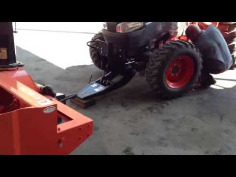 Kubota l4240hst 3 tractor with l2195 72 quot snow blower instal youtube