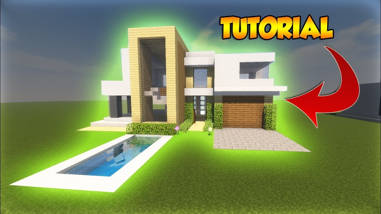 Minecraft large modern tutorial cool modern house for Big modern house tutorial