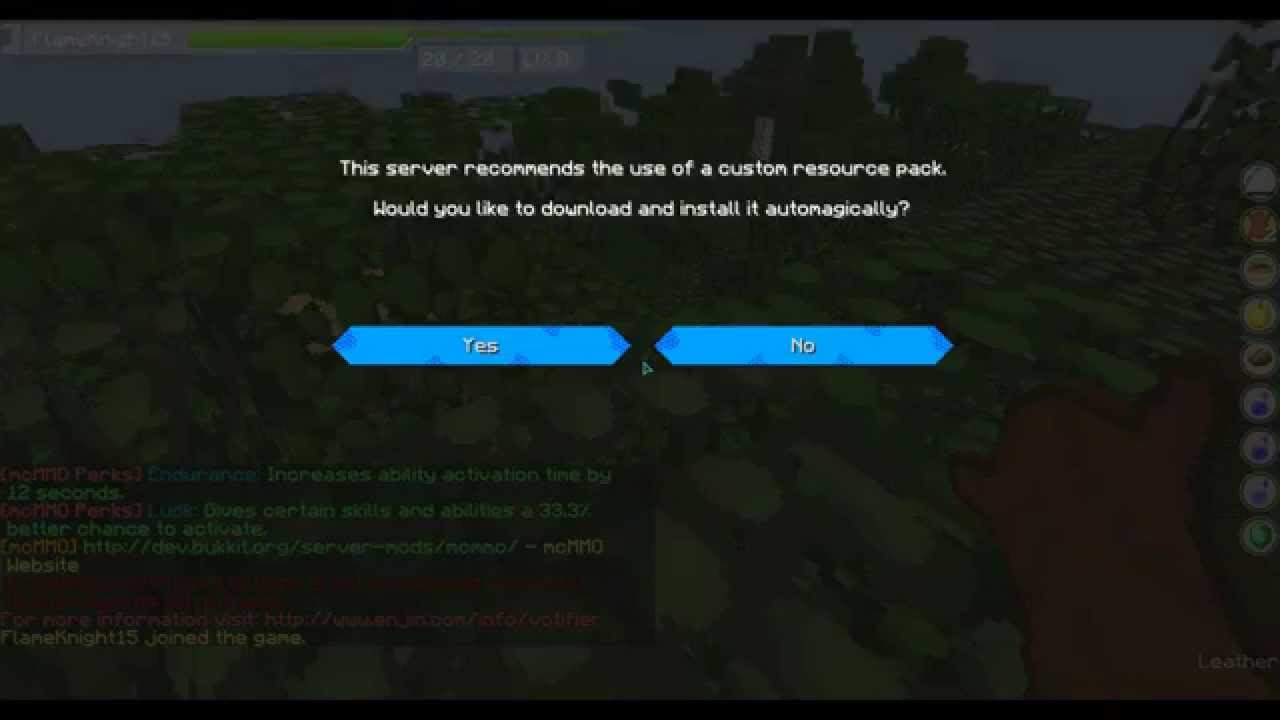 How To Use A Resourcepack On A Minecraft Server 1 8 1 7 Custom Or Public Resource Pack Youtube