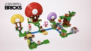 Lego Super Mario 71368 Toad's Treasure Hunt with Propeller Mario and Character Pack Speed Build