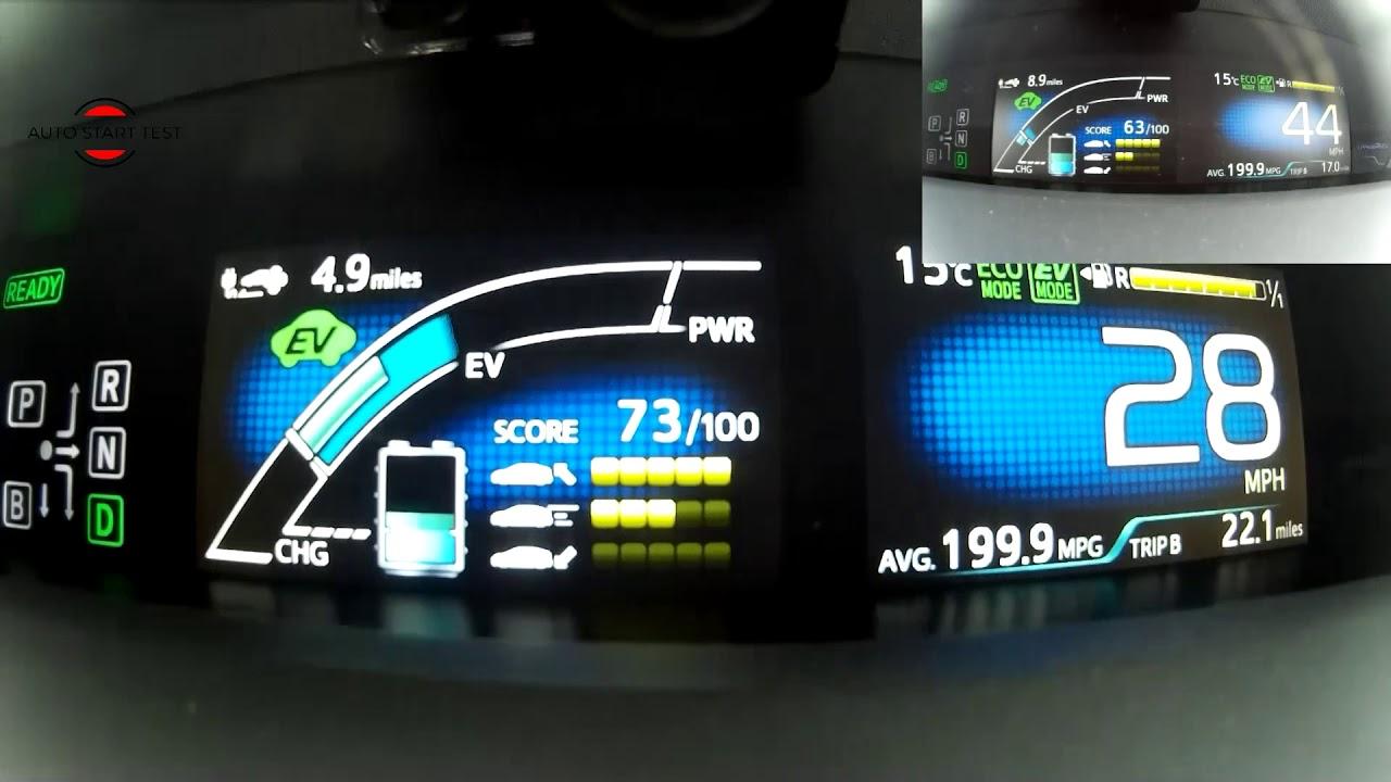 Ev Mode Range In Toyota Prius Plug Eng