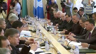С.Лавров на заседании Совета министров иностранных дел государств-членов СНГ