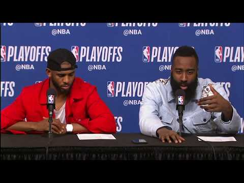 James Harden & Chris Paul Postgame Interview | Jazz vs Rockets Game 2