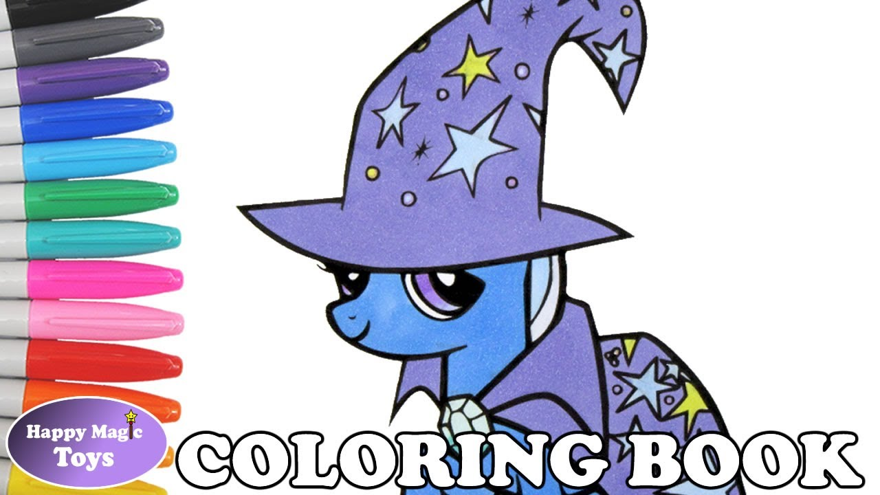 trixie coloring book page mlp my little pony trixie lulamoon coloring page for kids art