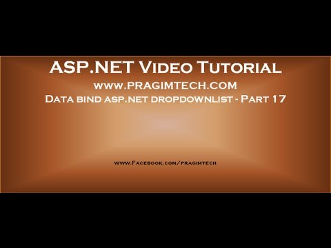 Data bind asp.net dropdownlist with data from the database   Part 17