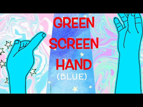 HANDS BLUE TUMBLR (GREEN SCREEN) / BY IEDDUH EDITING